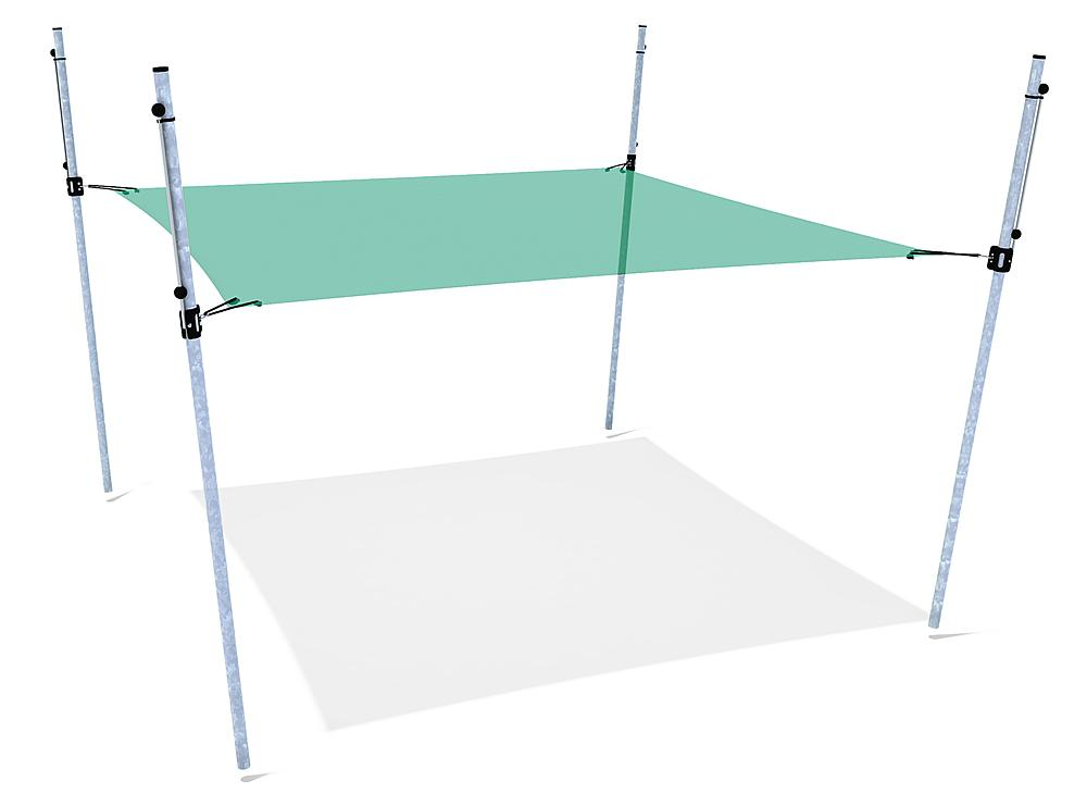 Schattensegel höhenverstellbar 3x3 m