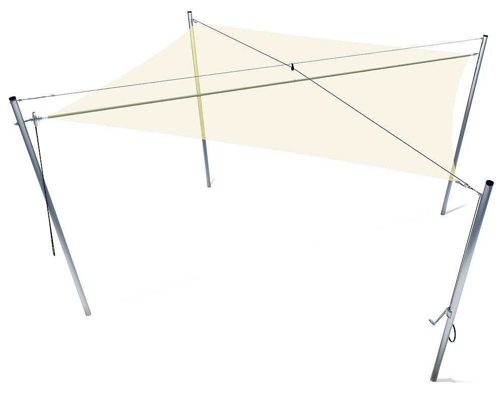 Sonnenschutz Quadrat 5x5 m