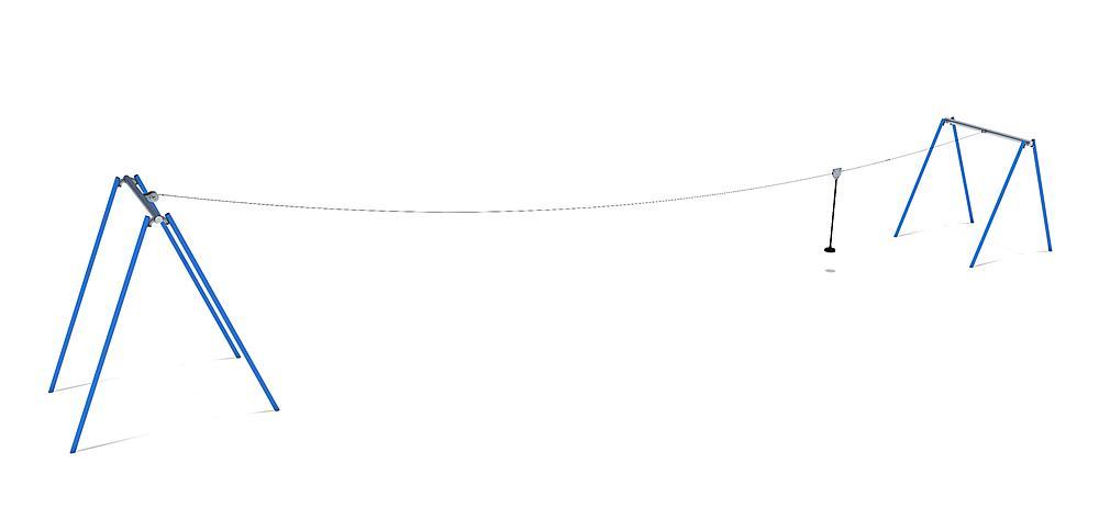 Seilbahn 50 m für Hügelverbau