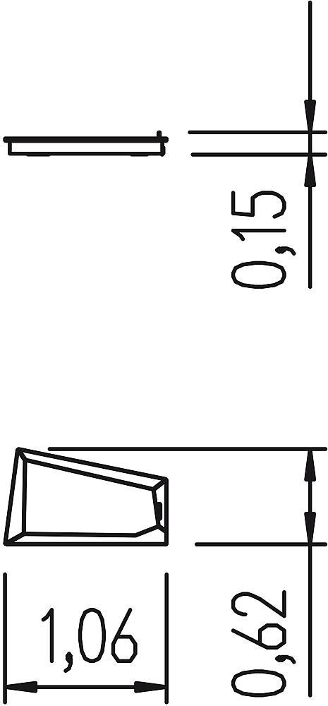 Ventilbecken 4eck 1 Ventil und HPL Rand Edelstahl/HPL iguana