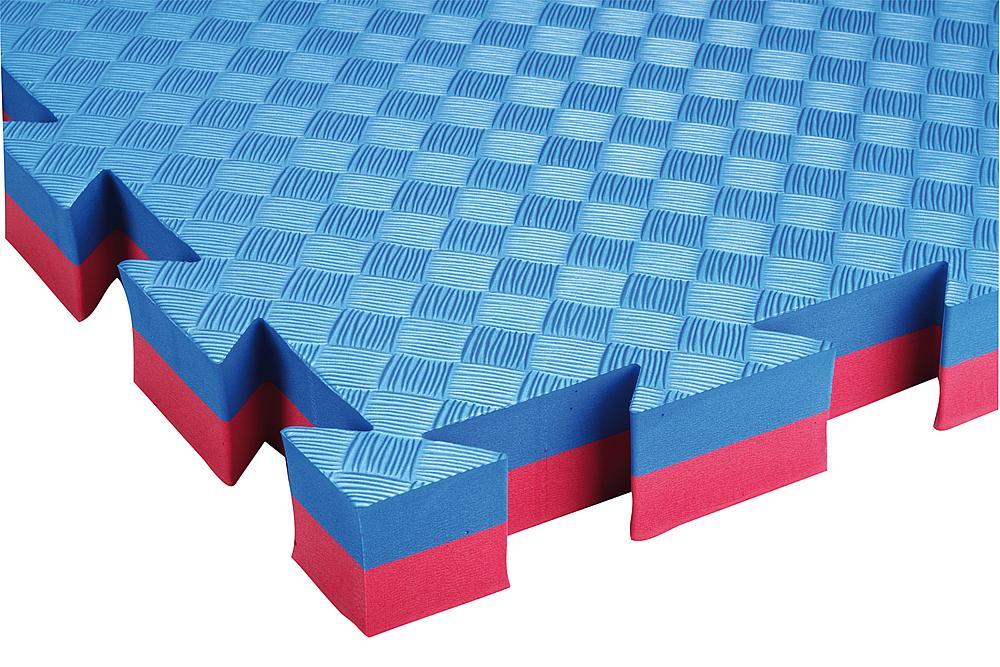 Fallschutz Puzzlematte blau/rot