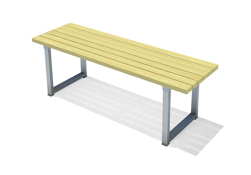 Tisch für Parkbank Monika