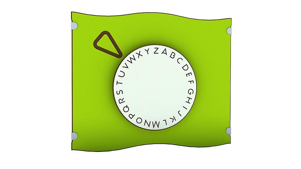 Spieltafel Buchstabenrad
