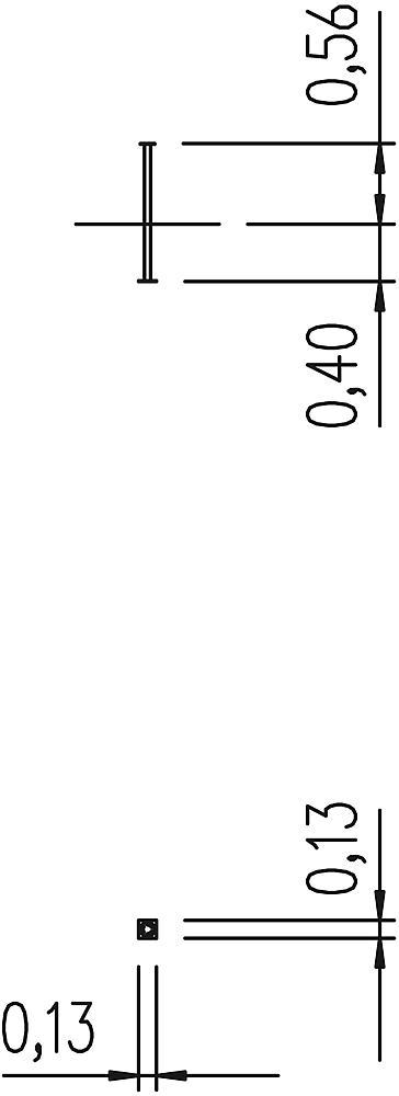 Edelstahlfuß 56 cm