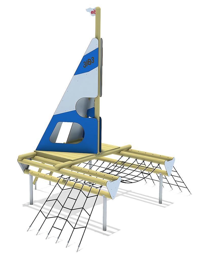 Spielschiff Katamaran