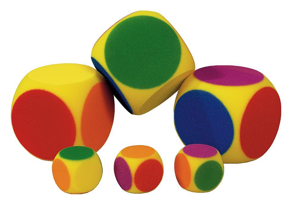 Volley® Schaumstoff Würfel 6-farbig