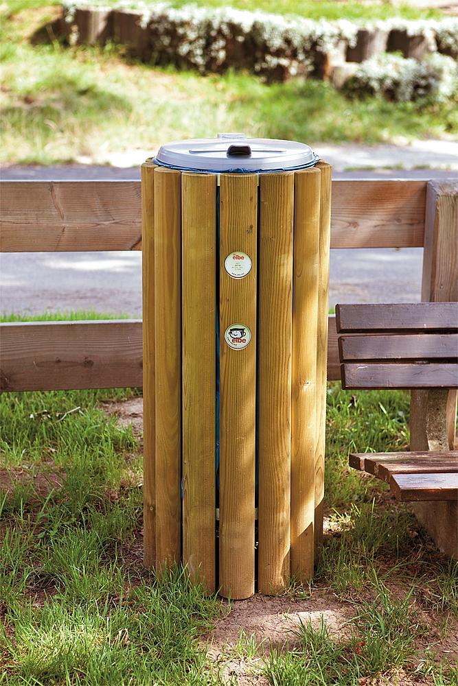 Abfallbox Holz