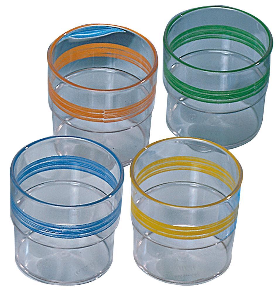 Trinkglas aus Melamin, 5 Stück
