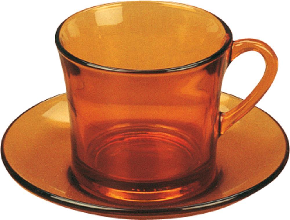 Tasse mit Untertasse - DURALEX Geschirrset