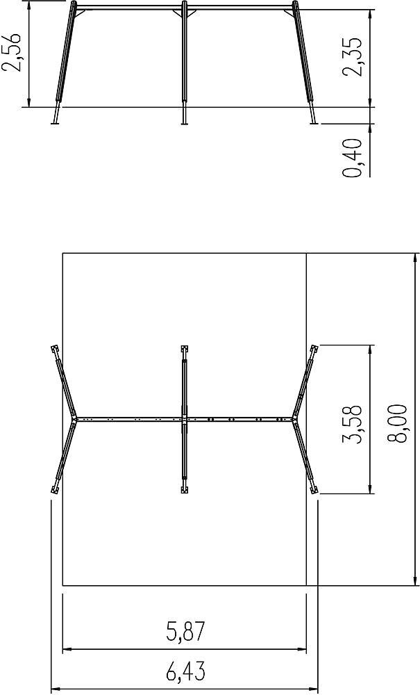 Vierfachschaukelgestell Kondor