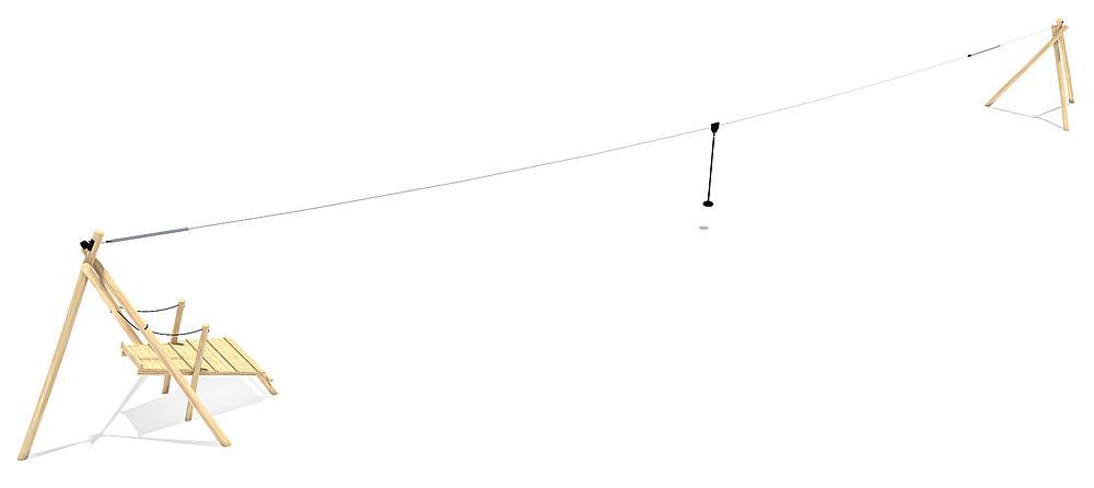 Seilbahn Tardo mit Startpodest 30 m
