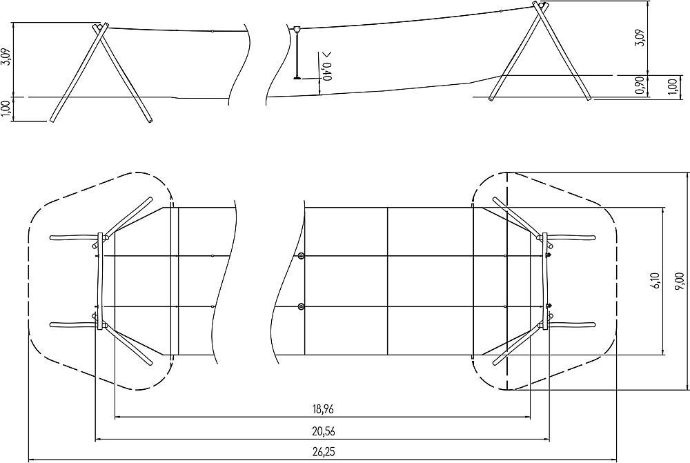 Doppelseilbahn Telesto 20 m