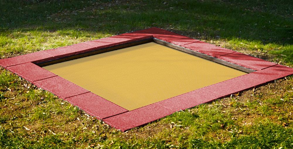 Bodentrampolin Kids Tramp Kindergarten 200x200 cm